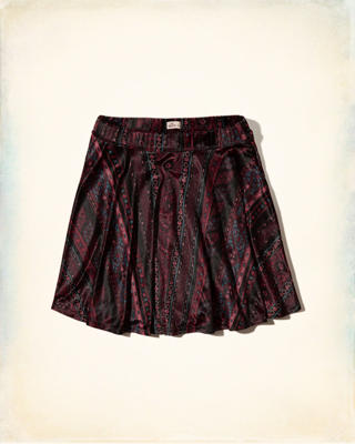 Patterned Velvet Skirt