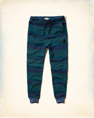 Hollister Patterned Fleece Jogger Pants