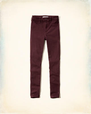 Hollister Sateen Sheen High Rise Super Skinny Jeans