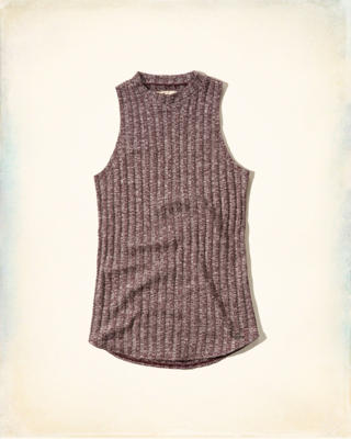 Ribbed Mock Neck Tank