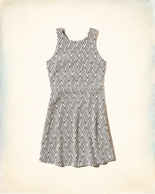 Patterned Knit Dress