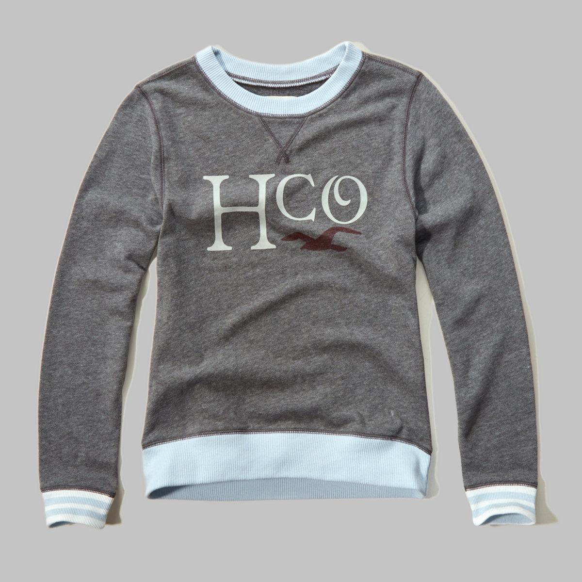 Flocked Graphic Sweatshirt