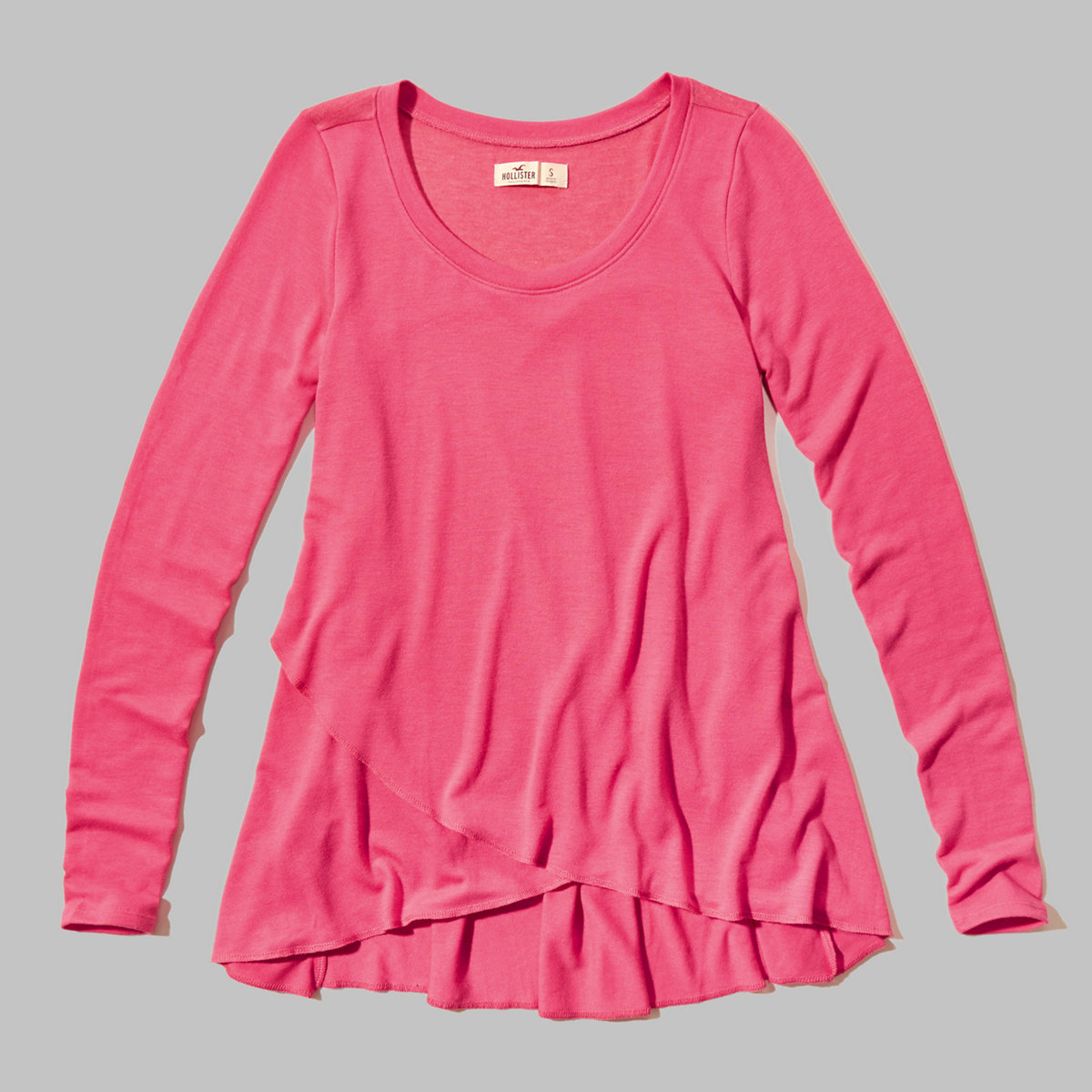 Asymmetrical-hem Easy T-shirt