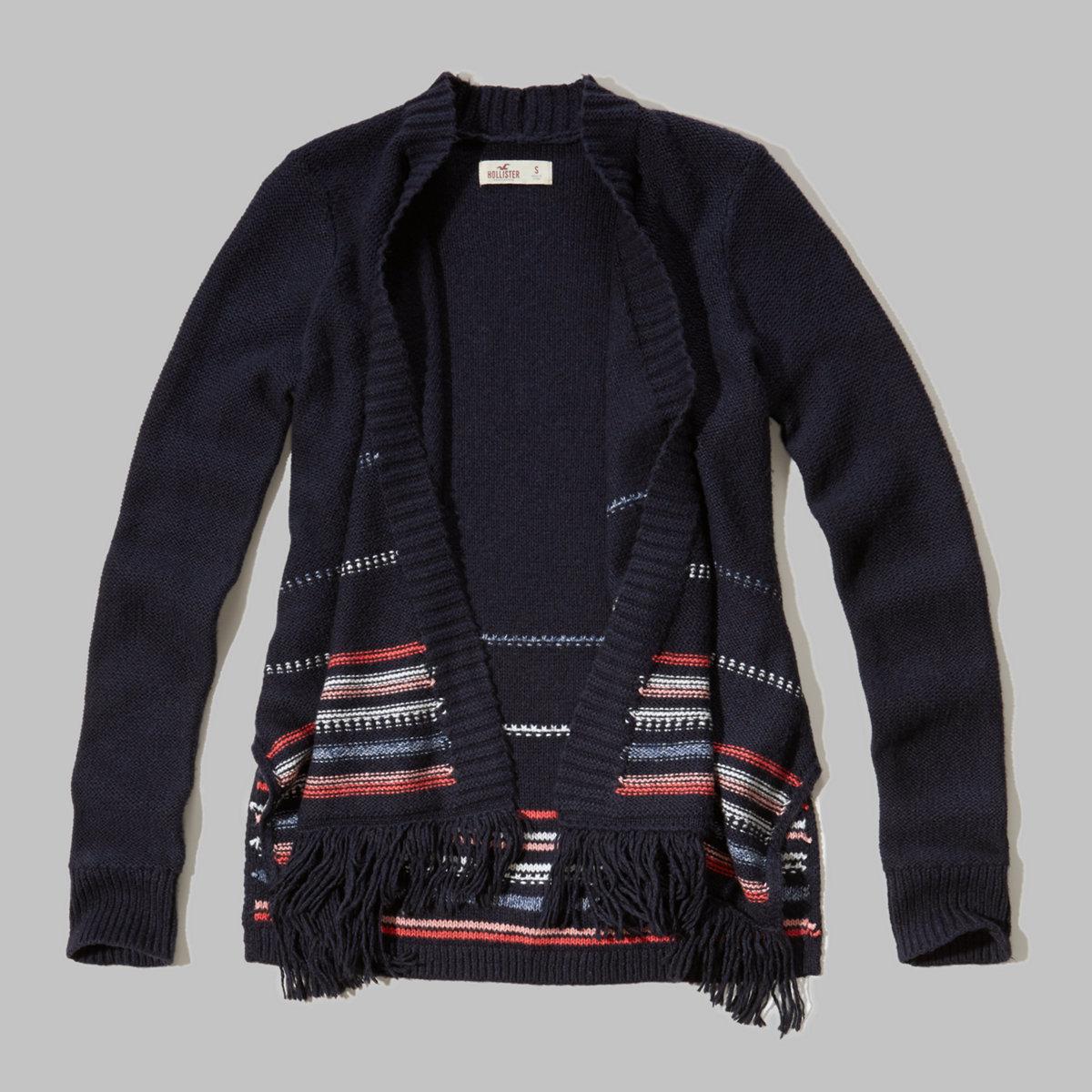 Fringe Blanket Sweater