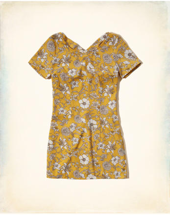 hol Patterned Cross-Back Dress