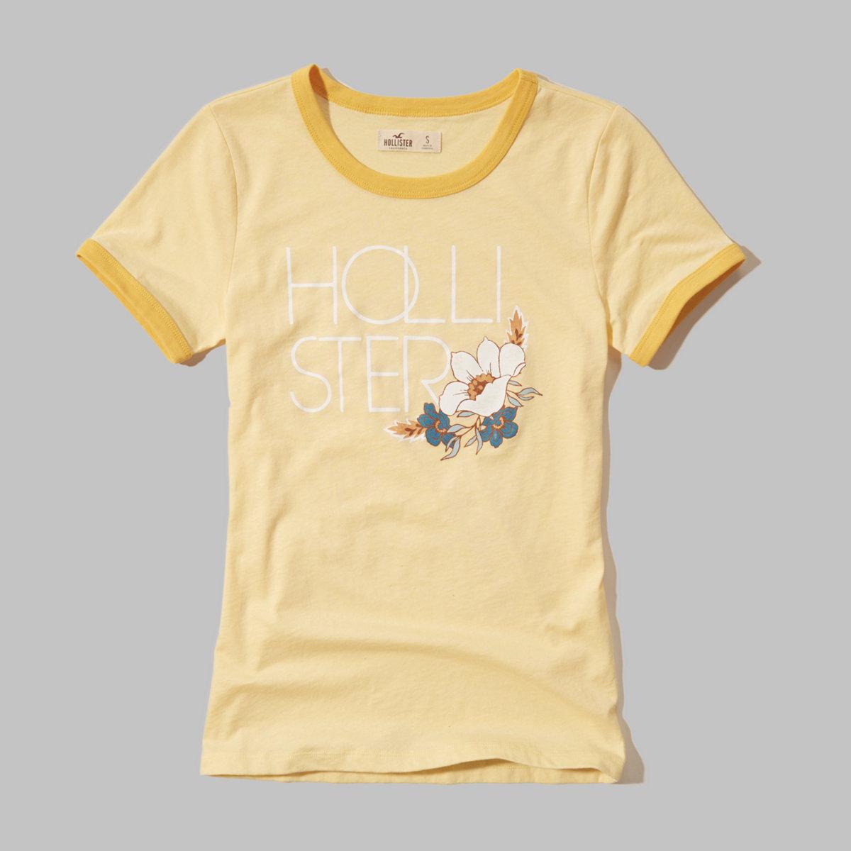 Logo Graphic Ringer T-Shirt