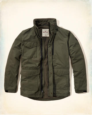 Coated Cotton Twill Jacket