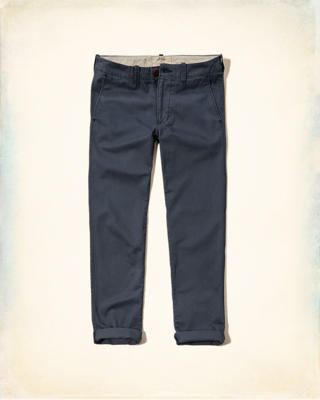 Hollister Slim Straight Zipper Fly Chinos