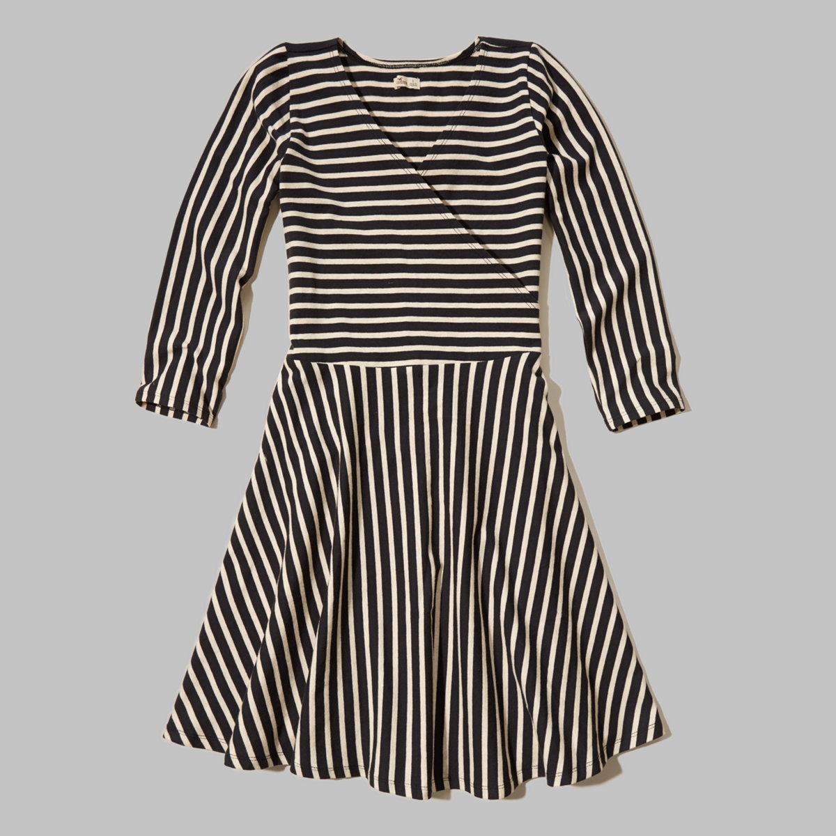 Wrap Front Knit Dress
