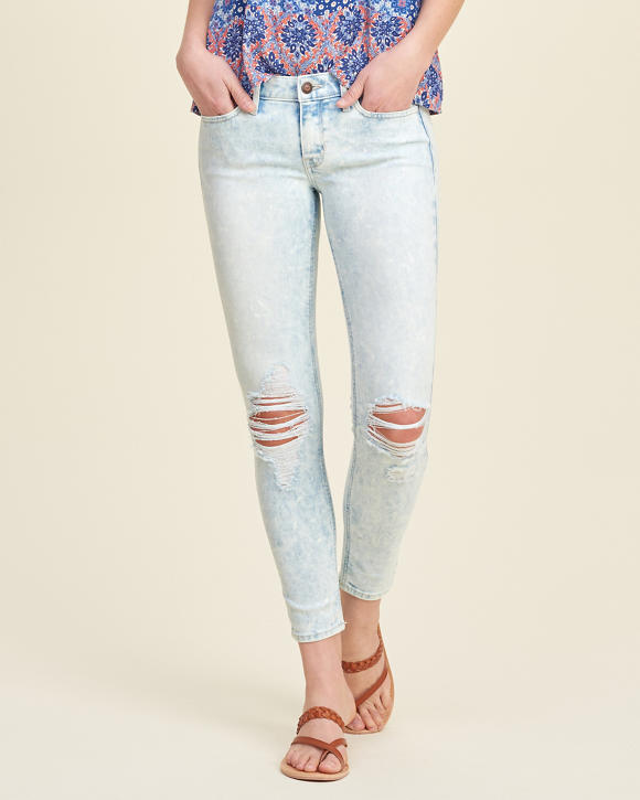 girls hollister crop jeans girls bottoms hollistercocom