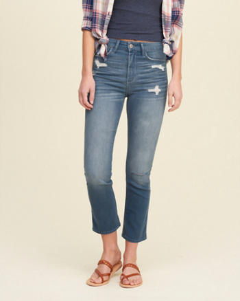 Hollister High Rise Crop Skinny Jeans