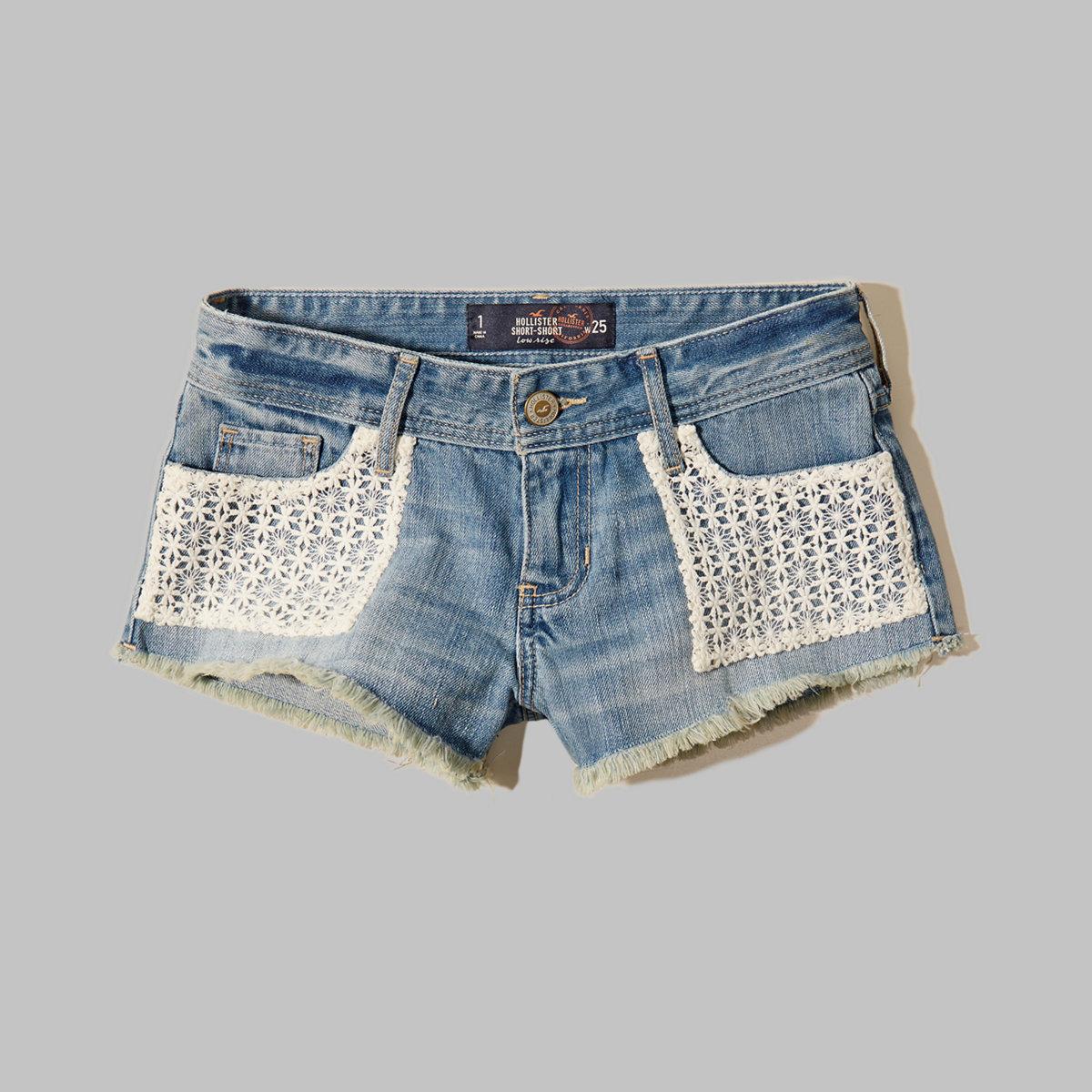 Hollister Low Rise Denim Shorts