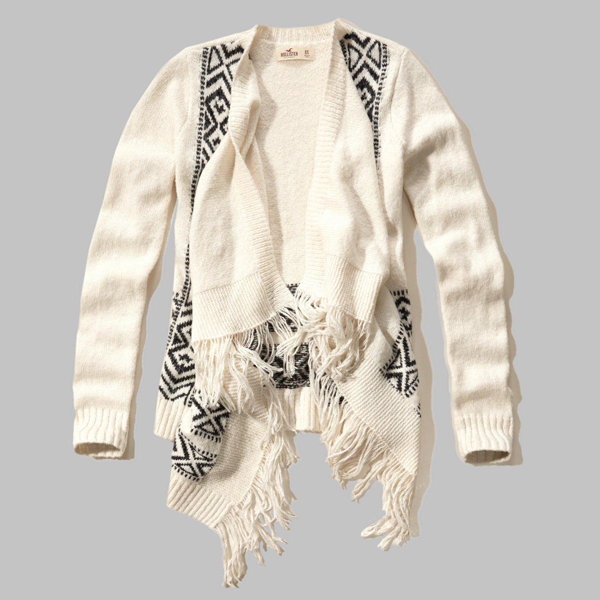 Patterned Blanket Cardigan Sweater