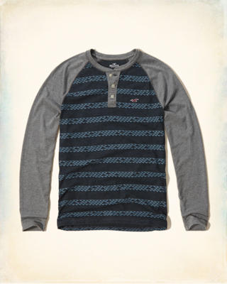 Stripe Baseball Henley
