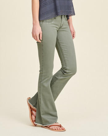 Hollister High Rise Flare Pants