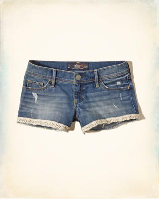 Hollister Low-Rise Denim Shorts