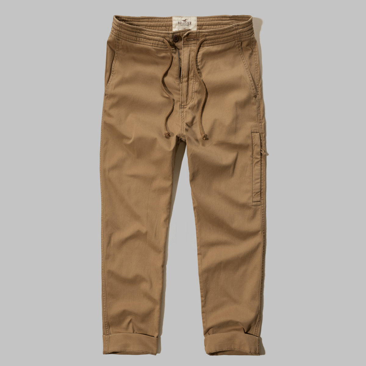 Hollister Zipper Twill Jogger Pants