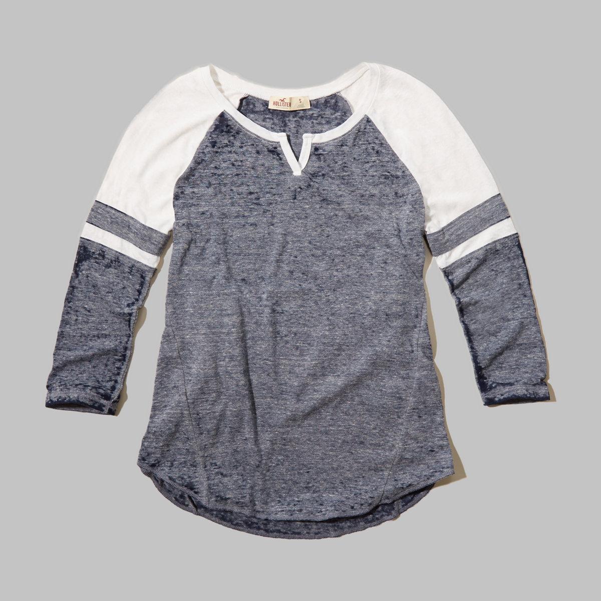 Colorblock Notch T-Shirt