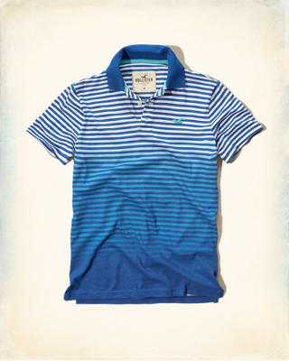 Ombre-Stripe Icon Polo
