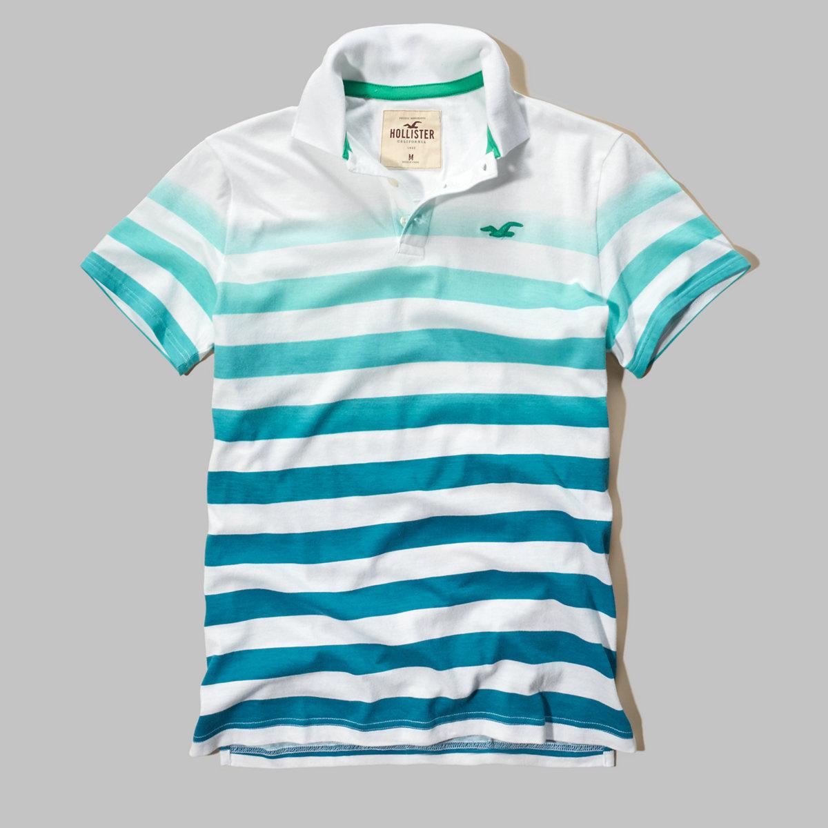Ombre-Stripe Icon Polo