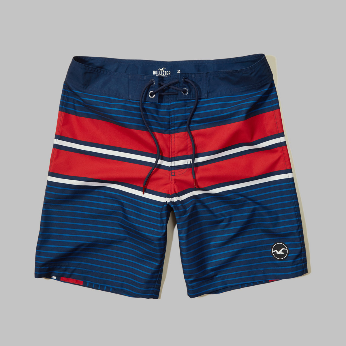 Patterned Logo Classic Fit Boardshort