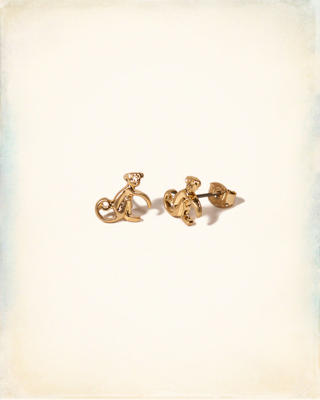 Monkey Stud Earrings