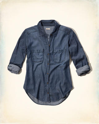 Washed Denim Shirt
