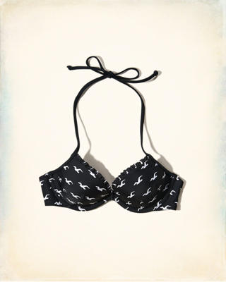 Plunge Ruffle-Trim Swim Top