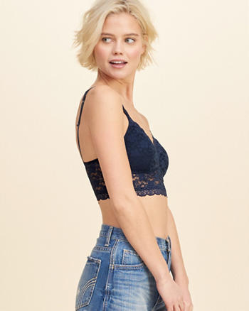 Gilly Hicks Removable-Pads Lined Lace Bralette