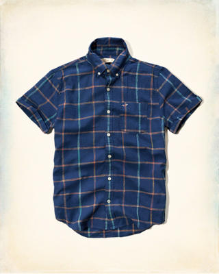 Plaid Cotton-Linen Shirt