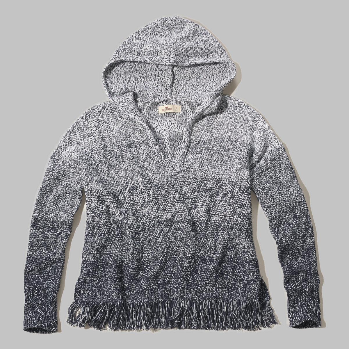 Fringe Baja Sweater Hoodie