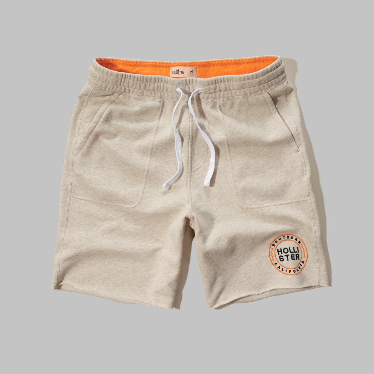 Hollister Graphic Fleece Jogger Shorts