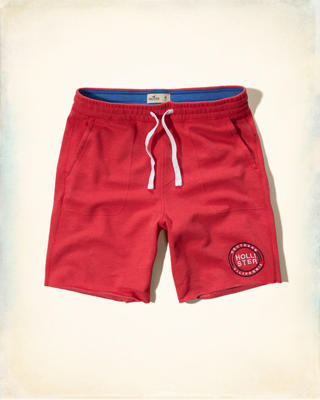 Hollister Graphic Fleece Jogger Shorts