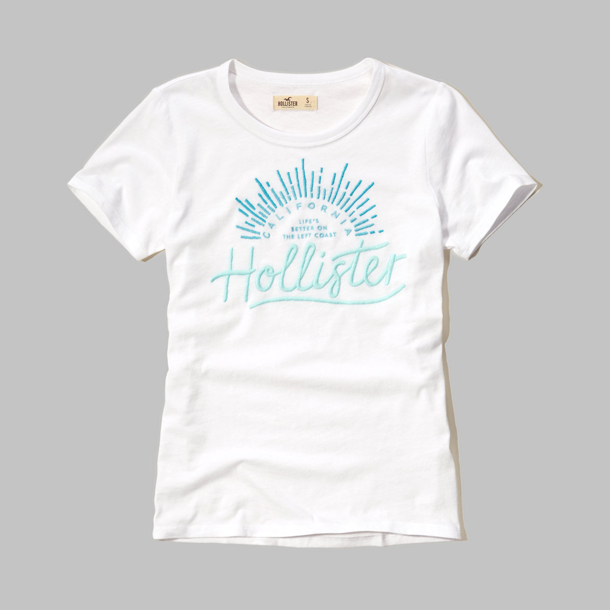 Embroidered Logo Graphic Tee