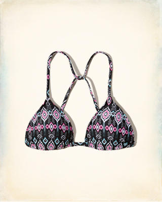 Printed Triangle Swim Top
