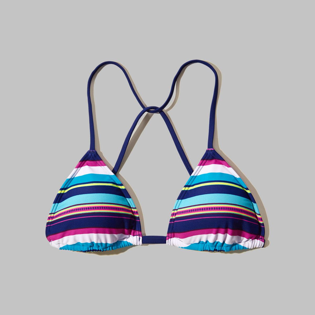 Printed Triangle Swim Top