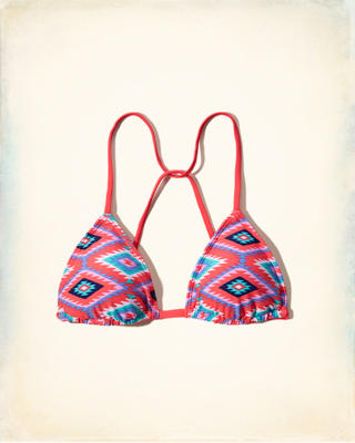 Triangle Strappy Back Swim Top