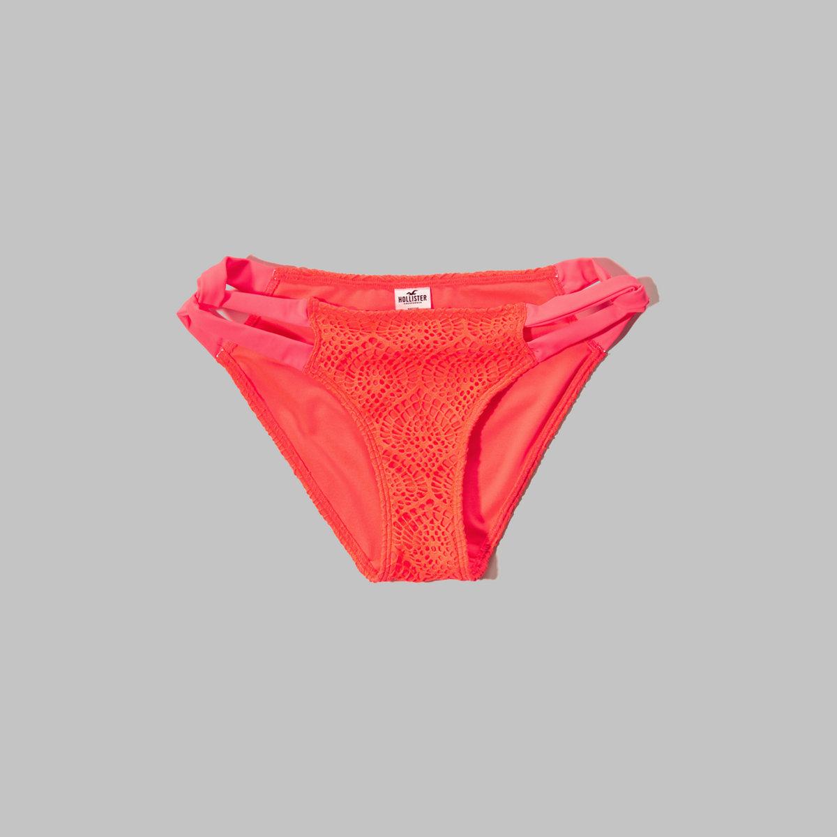 Textured Side Twist Bikini Bottom