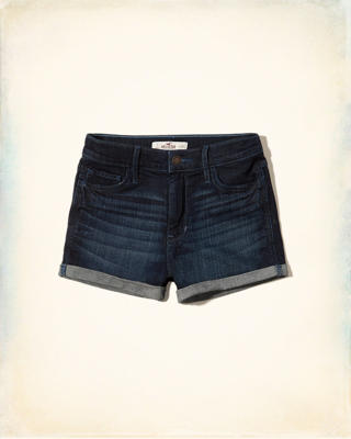 Rinsed Denim Shorts
