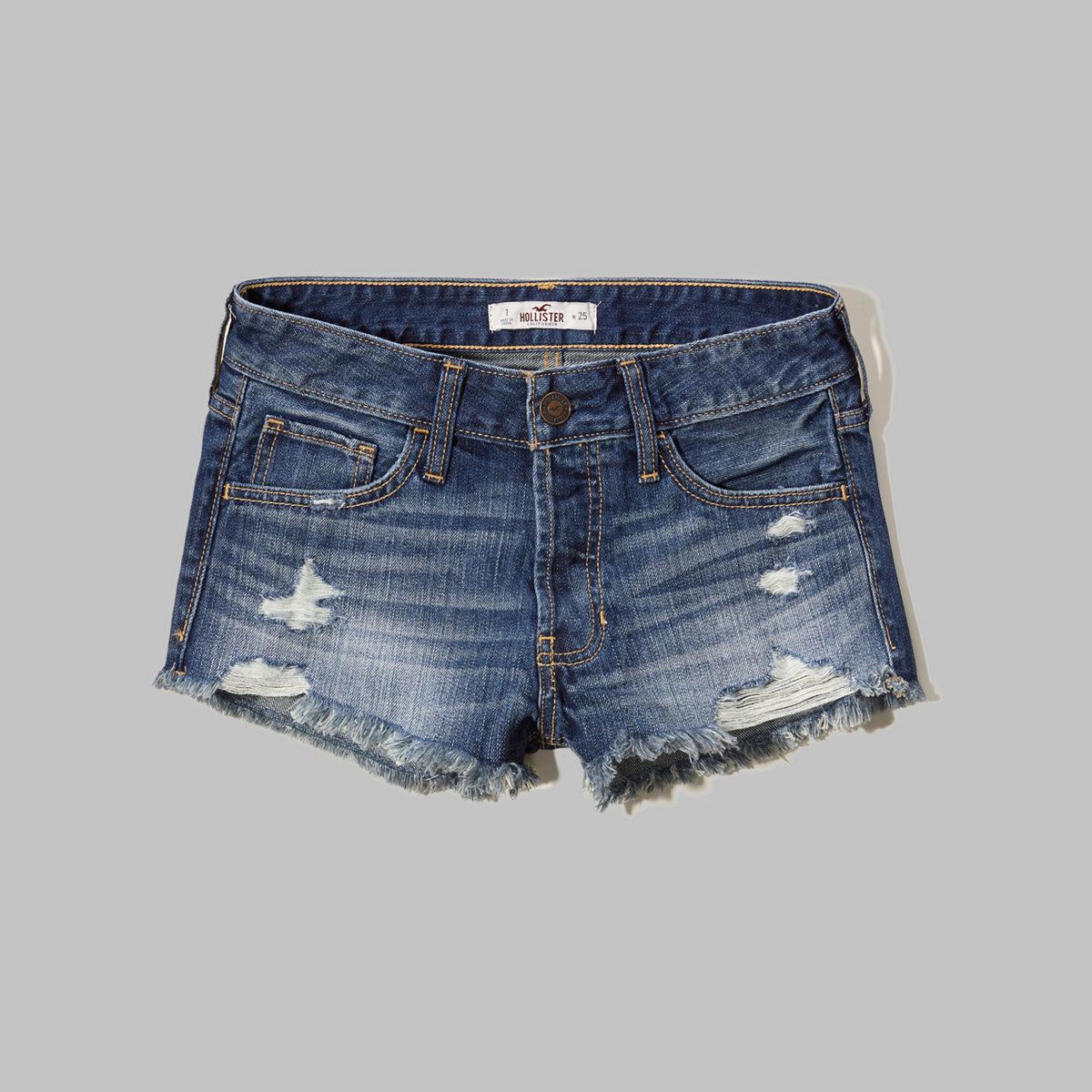 Hollister Low Rise Boyfriend Denim Shorts