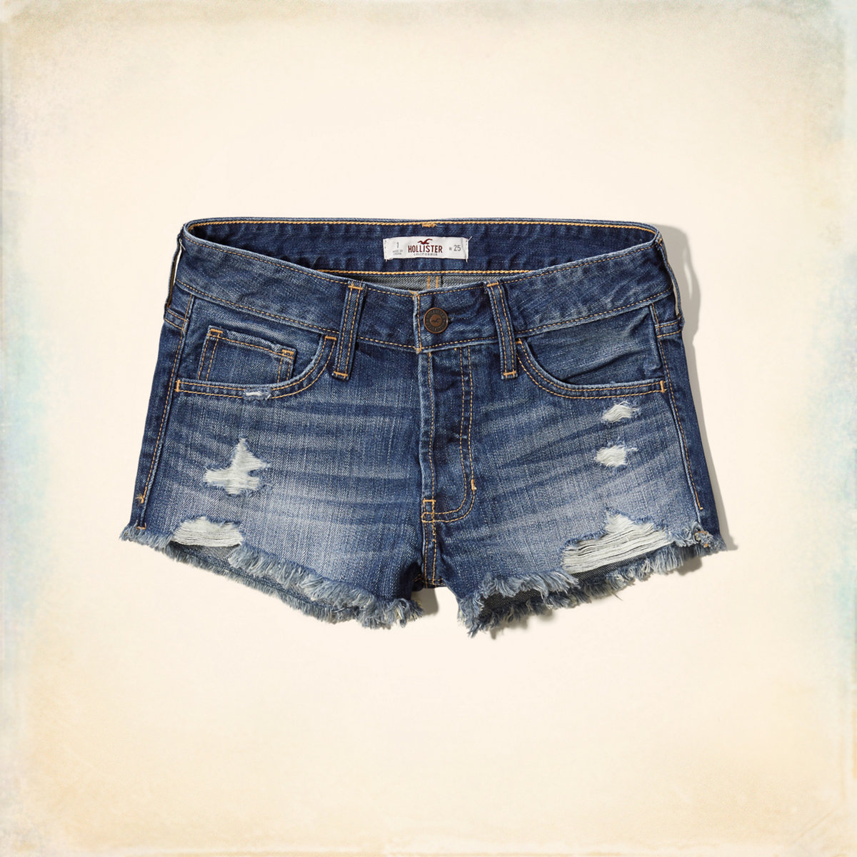 Hollister Low Rise Boyfriend Denim Shorts