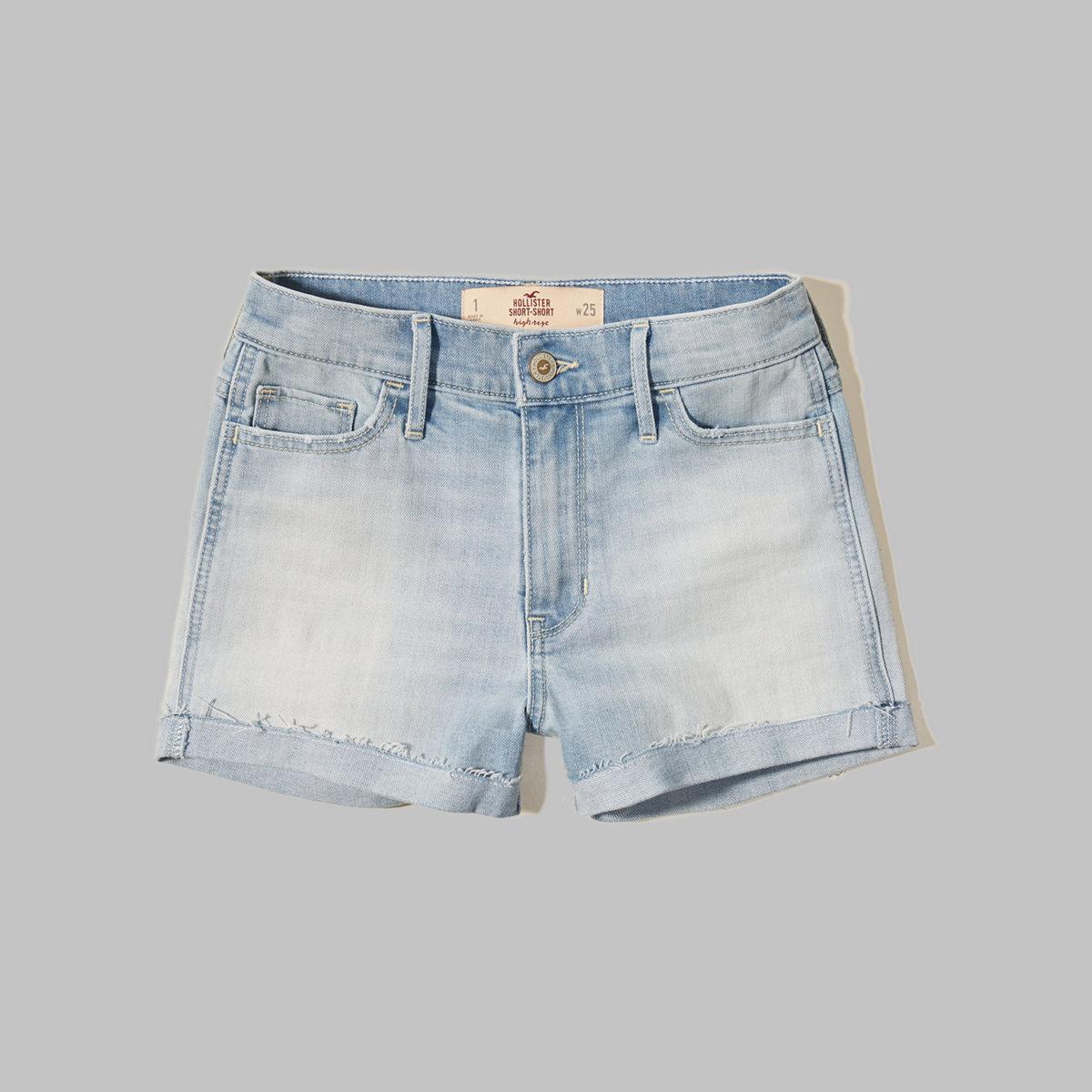 Hollister High Rise Denim Shorts