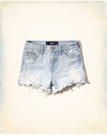 hol Lacy High Rise Denim Short-Shorts