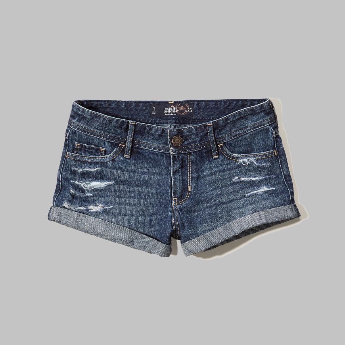 Low Rise Denim Short-Shorts