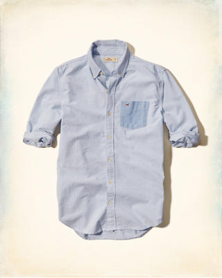 Contrast Pocket Oxford Shirt