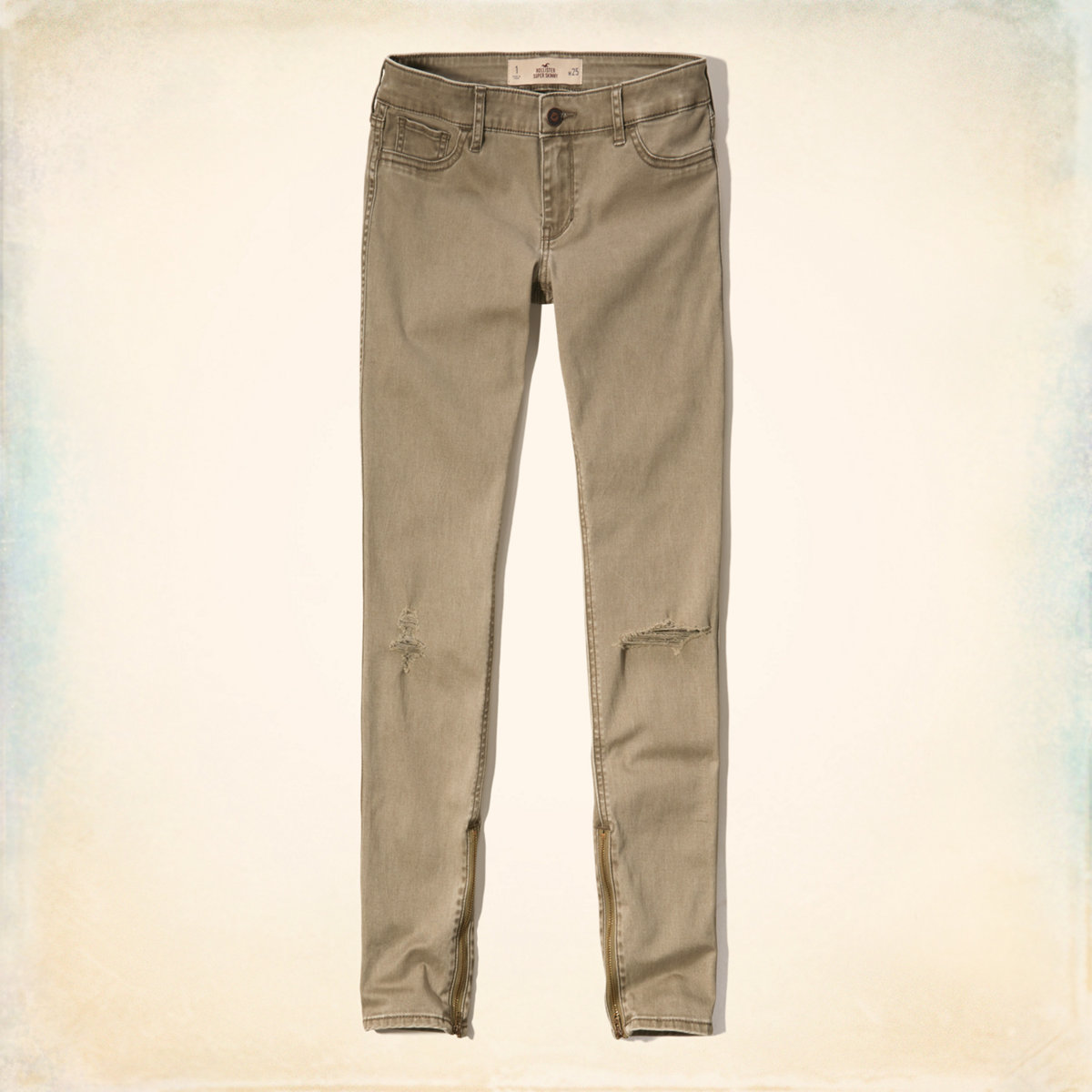 Hollister Ankle-Zip Twill Pants