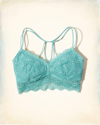 Gilly Hicks Removable-Pads Strappy Back Lace Bralette
