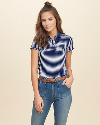 Stripe Icon Polo