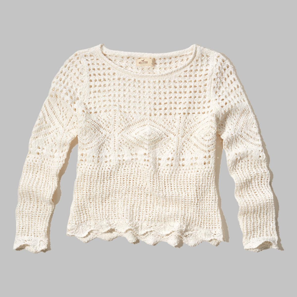 Open-Stitch Crochet Sweater