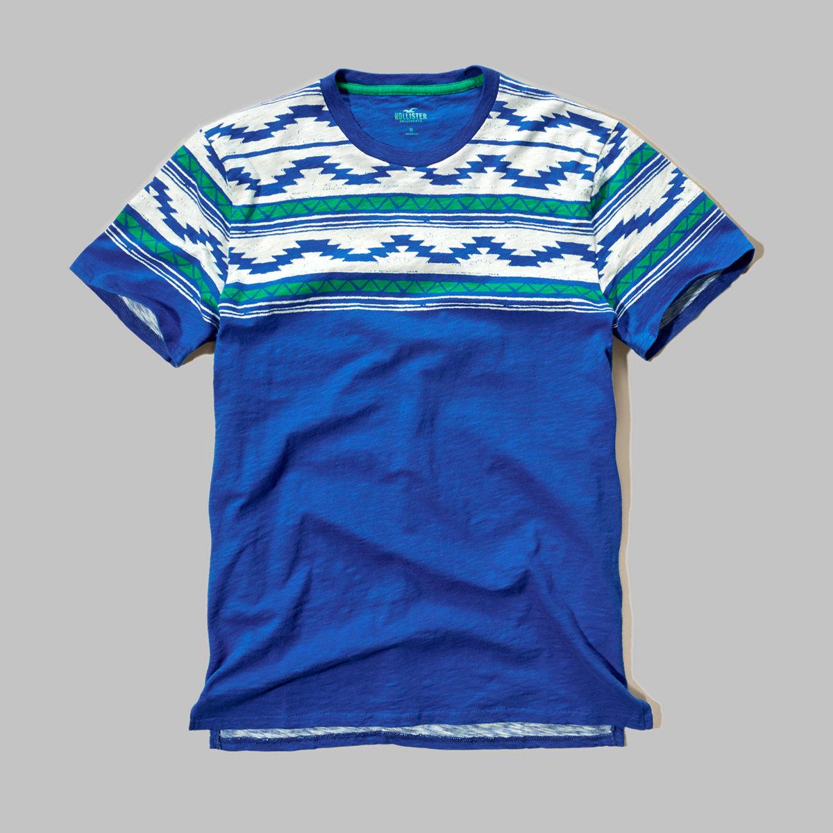 Contrast Print T-Shirt